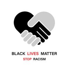 Black lives matter stop racism lives matter vector