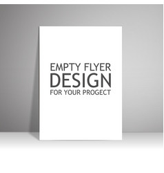 Blank paper poster on wall Mockup presentation vector