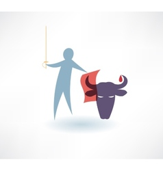 Bullfighter icon vector
