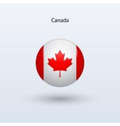 Canada round flag vector image