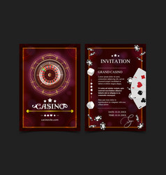 Casino background style ace vip invitation poker vector