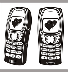 Classic mobile phone vector