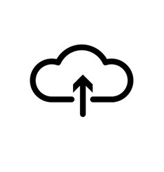 cloud upload icon icon vector image