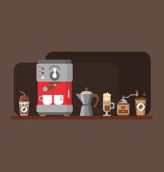 coffee equipment banner vector image