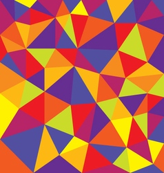 colorful polygons triangle shapes background vector image