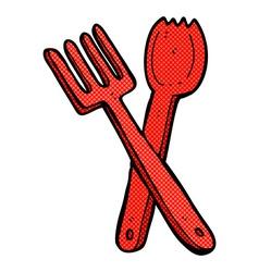 Comic cartoon cutlery vector