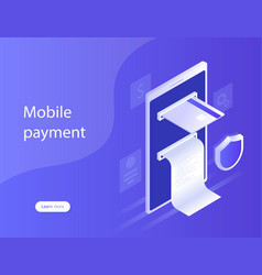 Concepts mobile payments personal data protection vector