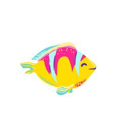 cute fish clown cartoon vector image