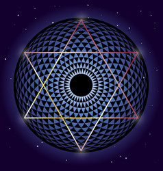 david star and torus yantra sacred geometry vector image