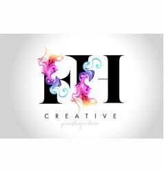 Fh vibrant creative leter logo design vector