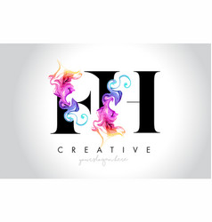 Fh vibrant creative leter logo design with vector