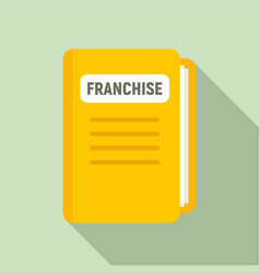 Franchise file folder icon flat style vector