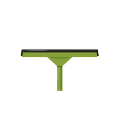 Green rubber window glass squeegee vector