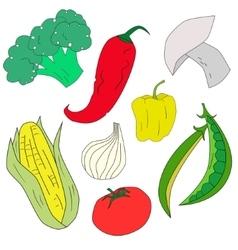 Green vegetables healthy food vector
