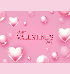 happy valentine s day cute design with realistic vector image