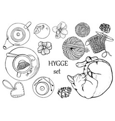 Hygge set vector