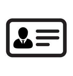 identification icon male user person profile vector image