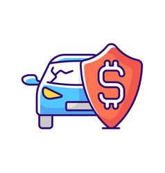 Insurance fee rgb color icon vector