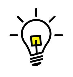 Led light bulb lamp vector