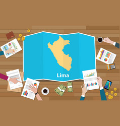 Lima peru capital city region economy growth with vector