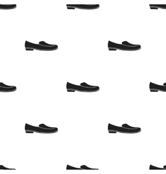 Loafers icon in black style isolated on white vector