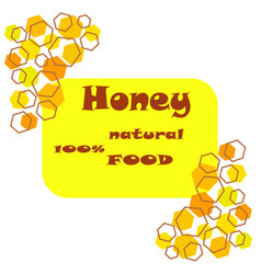 Logo honey in flat style vector