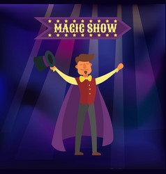 magic show wizard magical vector image