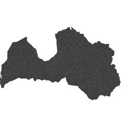 Map of latvia split into regions vector