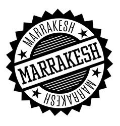 marrakesh black and white badge vector image