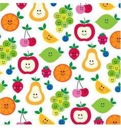 mhd fruit with faces clipart preview vector image