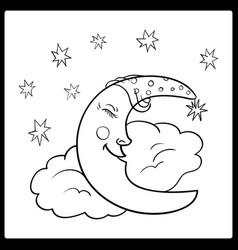 moon a graphical outline vector image