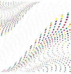 Multicolored pattern vector