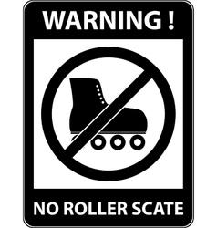 No skate rollerskate prohibited symbol vector