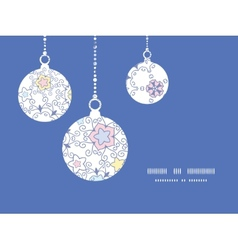 Ornamental abstract swirls Christmas ornaments vector
