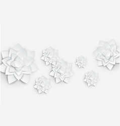 Paper art floral background 3d flower paper vector