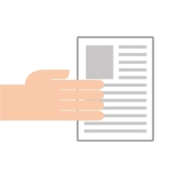 paper document flat line icon vector image