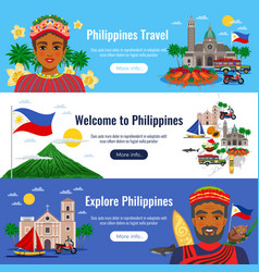philippines horizontal banners vector image