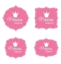 Princess Crown Frame vector image