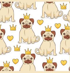 Pug princess vector