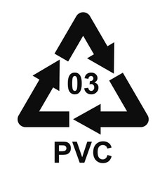 Pvc sign icon simple style vector