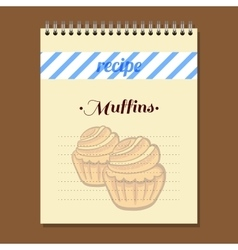 Recipe Book Muffins vector