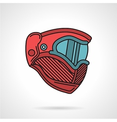Red paintball mask flat icon vector