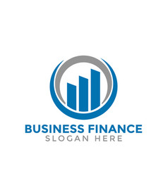 Rising bar business finance consulting logo icon vector