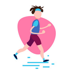 running man training on white background male vector image