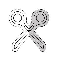 Scissor accesory isolated icon vector