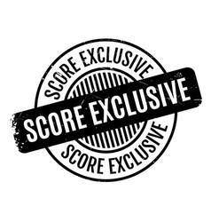 Score exclusive rubber stamp vector