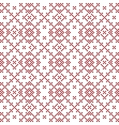 Seamless background with imitation of Slavic vector