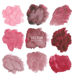 Set of red watercolor background vector