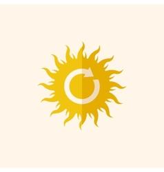 Solar energy flat icon vector