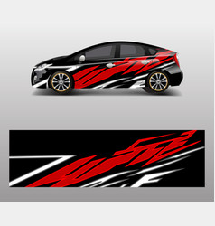 sport car racing wrap design design template vector image